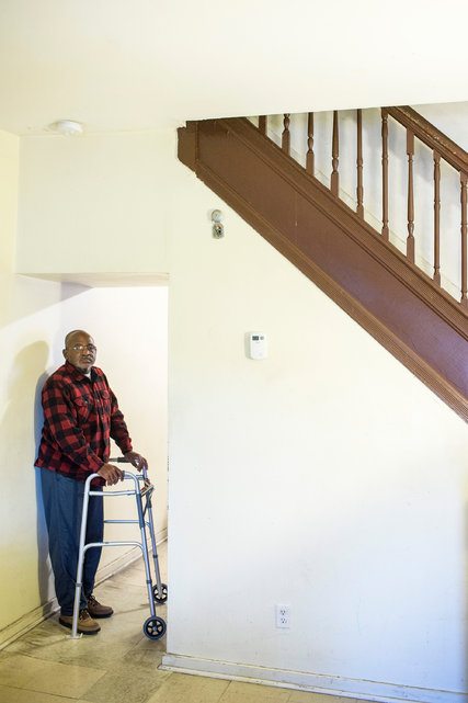 Clifford Cain Jr., a retired electrician, in his West Baltimore home. Courtesy of NY Times, Sued Over Old Debt, and Blocked From Suing Back. http://nyti.ms/1OmTE6w